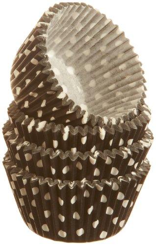 Wilton Dots Black Mini Baking Cups, 100 Count