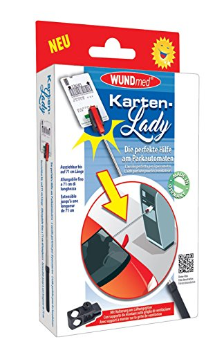 DocMed Karten-Lady DAS ORIGINAL | * Made in Germany* | verlängerter Arm mit Greifer für Parktickets | hygienisch Parkticket ziehen | Zubehör für Auto, Mini-Van und Wohnmobil