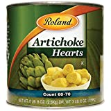 Roland Foods Whole Extra Small Artichoke Hearts, 60-70 Count, 5 Lb 8 Oz(2.5 kg) Can