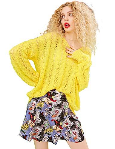 ELFSACK dames lange mouwen vrije tijd jurk gebreide trui met rok sets A-lijn Mini Rock