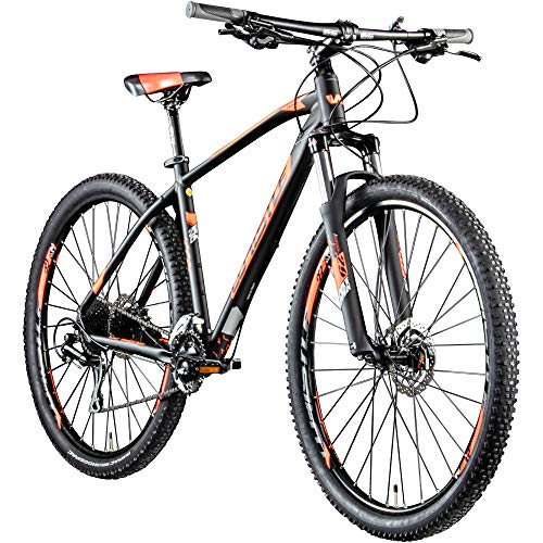 Whistle Mountainbike 29 Zoll MTB Hardtail Patwin 2053 2020 Fahrrad Mountain Bike (schwarz/Neonorange, 48 cm)