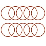 uxcell Silicone O-Ring, 48mm OD, 44mm ID, 2mm Width, VMQ Seal Rings Gasket, Red, Pack of 10
