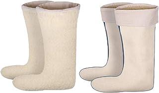 Calcetines, inserto para botas, 100% lana de cordero, para hombre y mujer naturaleza 47/48 EU