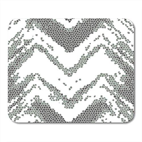 Mauspads Boho Bunte hochdetaillierte abstrakte Linien Vintage Grenze Moderne Damast für Teppich Schal Zwischenablage Fettdruck Mauspad für Notebooks, Desktop-Computer Büromaterial