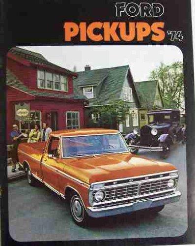 1974 FORD DEALERSHIP SALES & OPTIONS BROCHURE - ADVERTISING FOR PICKUP TRUCKS....