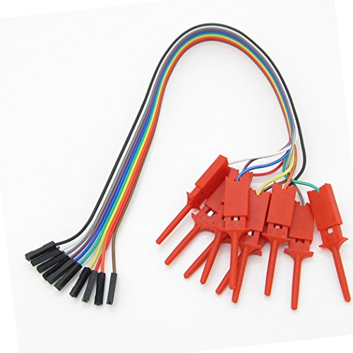 A Set 10pcs Red Logic Analyser Useful High Efficiency Clip Ideal Test Hook
