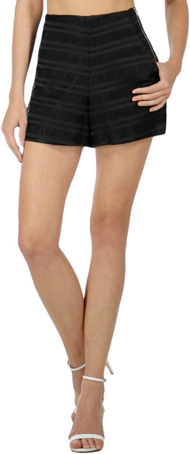 Endless pink, Marielle Woven Shorts, Black