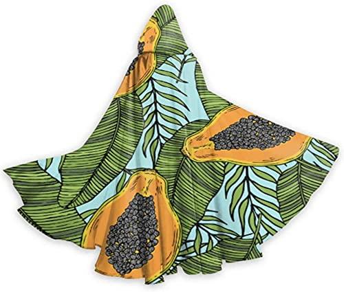 KEROTA Moda lindo crear fruta papaya ligero con capucha capa adulto patrn 59 pulgadas para Navidad Halloween Cosplay disfraces