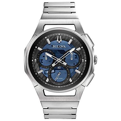 Bulova Reloj de Hombre Cuarzo Correa y Caja de Acero dial Azul 96A205