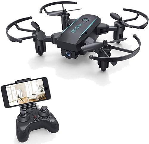 WMIAO Mini Remote-Drohne, Rumpf Faltbare 720P HD-Kamera 360 ° Kein Shake-Modus EIN Knopf Zurück 2.4Ghz App-Steuerung WiFi-Verbindung Kinder, schwarz,720P