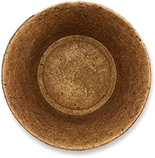 COIR GARDEN Coco Coir Flower Planter Pots for Balcony, Terrace Gardening - 8 inch - Pack of 10 (8 inch top Dia and 6.5 inc...