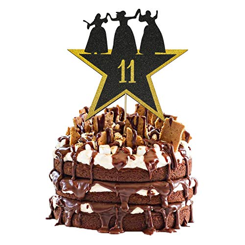 Hamilton Cake Topper 11, Happy 11th Birthday Hamilton Cake Topper for 11 Years Old Boy Girl American Musical Hamilton Birthday Party Decorations