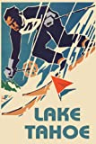 Lake Tahoe California Skiing Ski Race Sport Snow Mountains 20' X 30' Inches Image Size Poster Reproduction ON PAPER