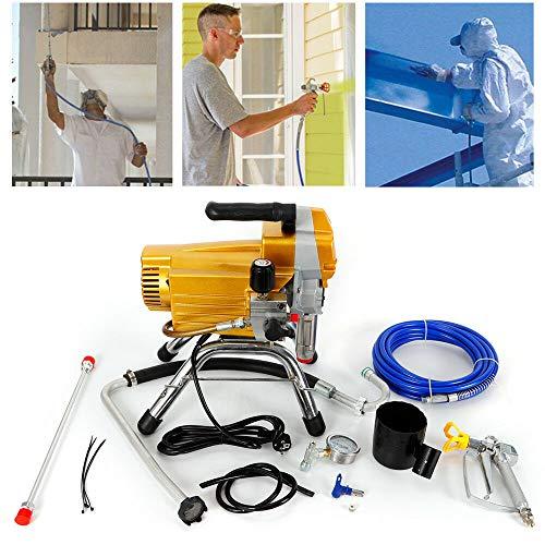 Máquina de pintura sin aire de 2200 W, alta presión, aerosoles, pintura de pared, pistola pulverizadora de pintura sin aire de alta presión, dispositivo de aerolíneo, dispositivo de pulverización