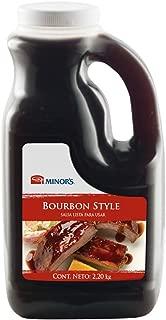 Minor's BBQ Sauce, Bourbon Style Sauce, Savory Southern Blend of Molasses and Onion, 4 lb 15 oz Bulk Bottle