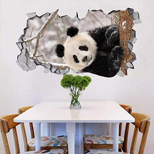 Pegatinas de pared 3D Panda Animal 84 Murales de pared Pegatinas de pared Calcomanía avance