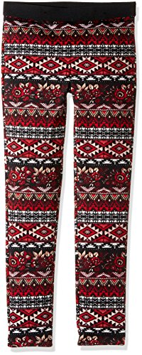 My Michelle Big Girls' Novelty Printed Leggings with Solid Waistband, Multi, L