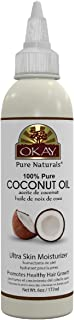 OKAY | 100% Pure Coconut Oil | For All Hair Textures & Skin Types | Moisturize - Massage - Condition | Excellent Source of...