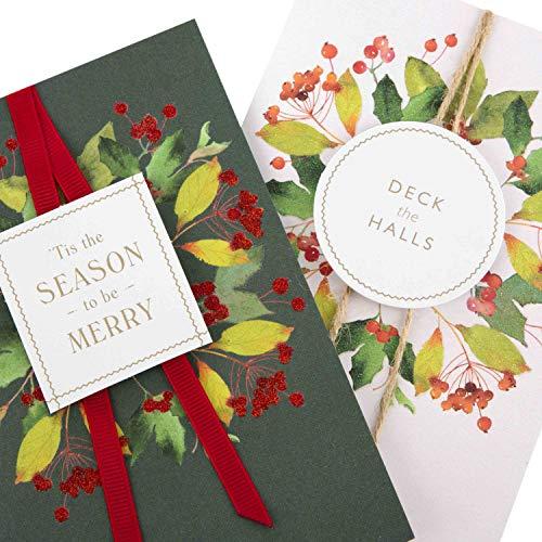 Hallmark 25499989 Joy, tarjetas de Navidad hechas a mano, 10 tarjetas, 2 diseños