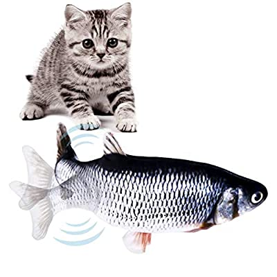 Electric Fish Cat Toy, Cat Simulation Fish Toy, Cat Toys Interactive Fish, Cat Wagging Fish Toy, Cat Kicker Fish Toy, Fun Toy for Cat Exercise Perfect for Biting, Chew and Kick