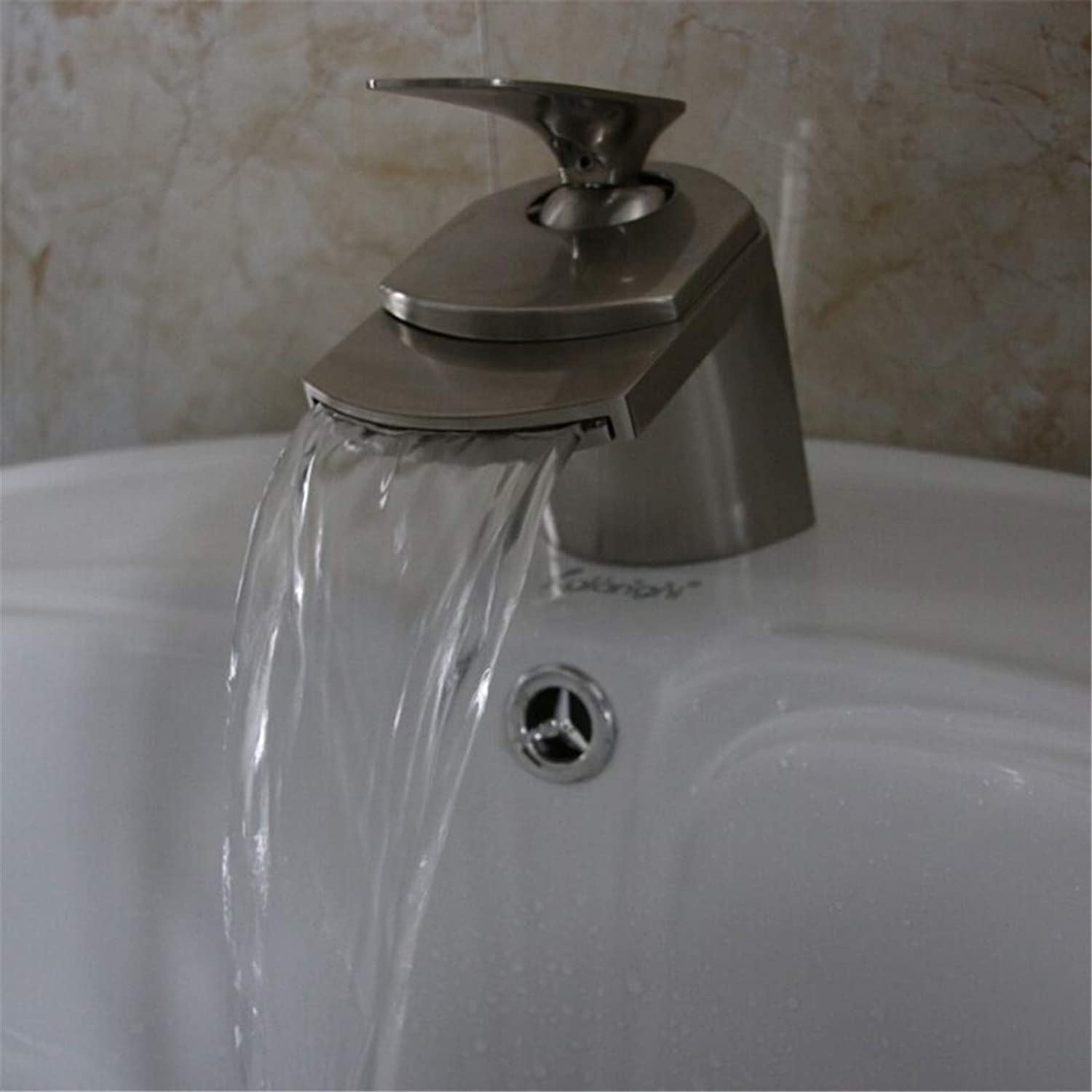 Luxury Modern Hot and Cold Faucet Vintage Platingfaucet Deck Mount Waterfall Hot and Cold Water Bathroom Mixer Taps