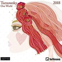 2018 Turnowsky Mini Grid Calendar - teNeues Art Calendar - 17.5 x 17.5 cm