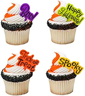 Halloween Party Greeting Cupcake Picks - 24 pc by Bakery Supplies