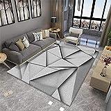 Alfombra antiacaros Salon Sala de Estar Alfombra Gris triángulos borrosas Resumen Suave Alfombra Anti-ácaros Gris Alfombra Silla Ordenador 180X200CM liquidacion alfombras 5ft 10.9''X6ft 6.7''