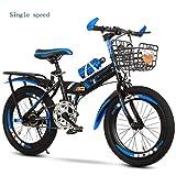 Zxb-shop Bicicleta Plegable Unisex Plegables Bicicletas for niños, 7-8-10-12-15 años, niños de Escuela Media, los Estudiantes de Primaria, Bicicletas de montaña, Niños, Bicicletas (tamaño : 18inch)
