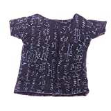 Uteruik Puppen-T-Shirt, 46 cm Schwarz