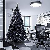 WEIGE Árbol de Navidad Artificial de Primera Calidad Abeto Negro Árbol de Navidad con bisagras Puntas de Ramas densas Árbol de Navidad Fácil Montaje Decoración de Vacaciones de Halloween para ofic