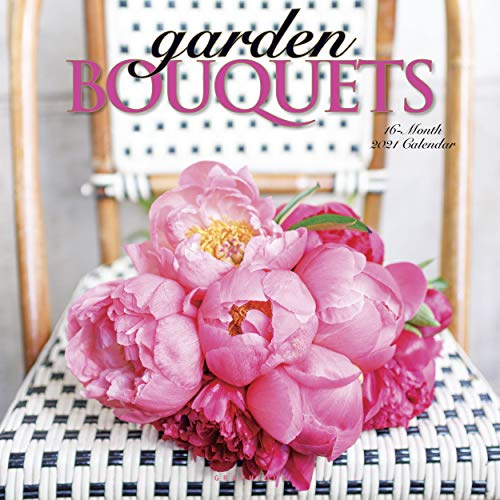 Graphique Garden Bouquets 2021 Wall Calendar, 16-Month 12'x12' w/ 3 Languages, 4-Month Preview, Marked Holidays (CY20321)