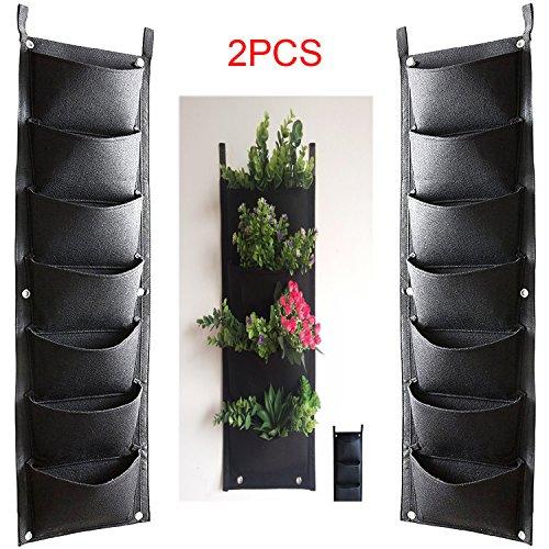 HIMM - 7 poches murales verticales pour plantation - Décoration idéale pour votre jardin ou maison