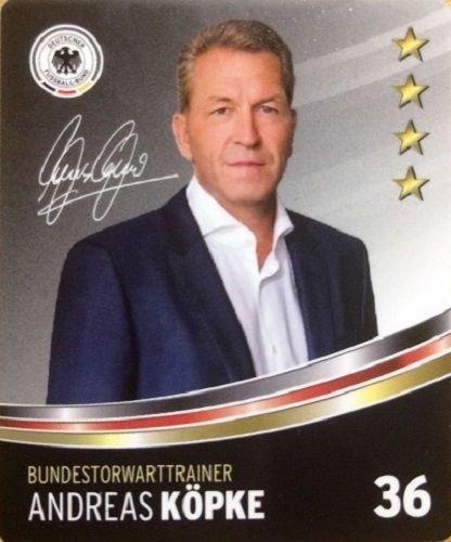 Rewe DFB Sammelkarten EM 2016 Auswahl aus allen 36 und Sammelalbum oder alles komplett (Nr 36 Andreas Köpke)