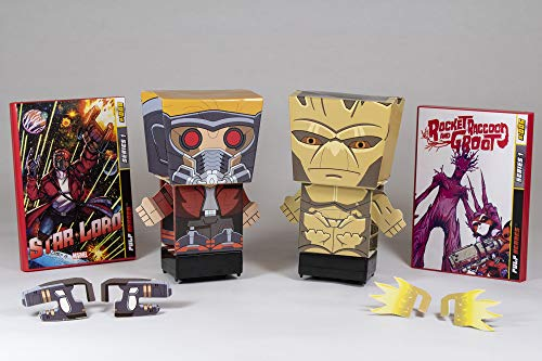 Far Out Toys Marvel Pulp Heroes Snap Bots | Star-Lord and Groot Bots with Awesome Comic Book Packaging! | The Next Generation of 3D Collectibles, for Ages 4 and Up (45052)