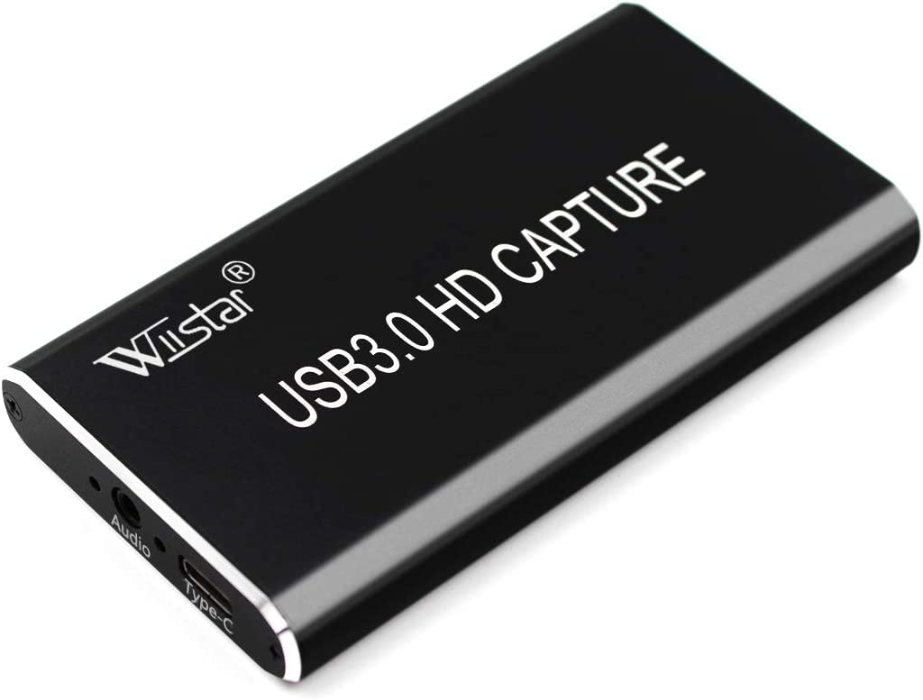 Wiistar USB Video Capture Card HDMI to Type C USB 3.0 Video Capture Dongle 1080P60FPS Video Audio Grabber Game Recorder for Xbox PS4 Live TV Live Streaming