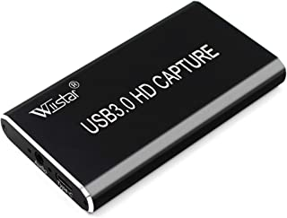 Wiistar USB Video Capture Card HDMI to Type C USB 3.0 Video Capture Dongle 1080P60FPS Video Audio Grabber Game Recorder fo...