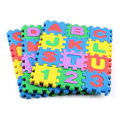 CARRYKT Mini Puzzle Letter Mat for Barbi Doll Furniture Accessories Yoga Mat DIY Toy
