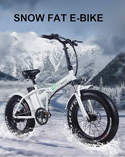 XXCY Shengmilo Fat Pneu vélo électrique Snow ebike 500W 15AH (Blanc)