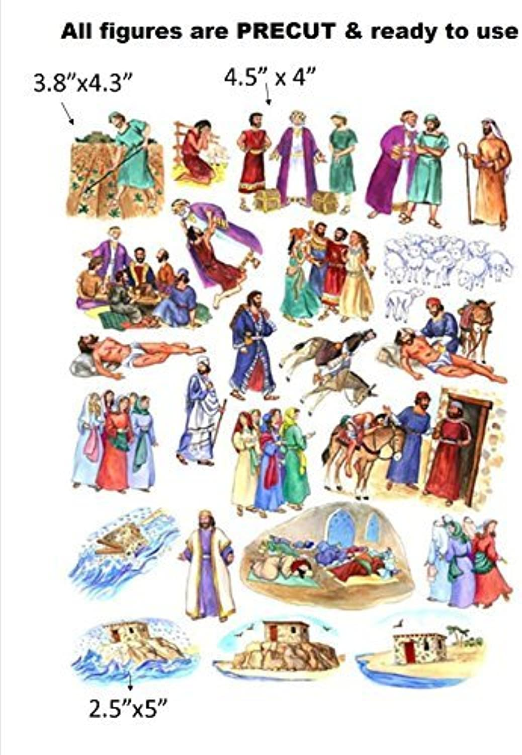 The Parables of Jesus Felt Figures for Flannel Board Bible Storiesprecut by Story Time Felts