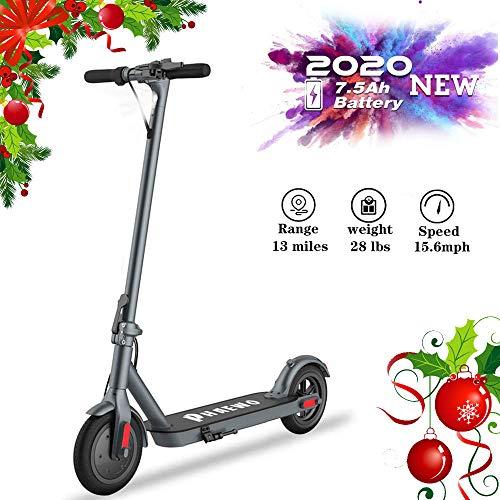 Albelar Elektrische scooter, opvouwbaar, dubbel remsysteem voor scooter, scooter, maximale snelheid 25 km/h, accu met een lange reikwijdte van 16 millen, achterlichten voor en achter