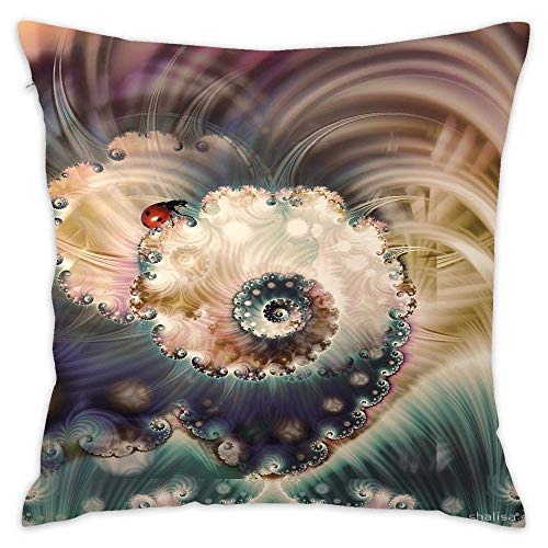 N\A Ladybird Lost Throw Pillow Case Cushion Cover Floral Cotton Pillowcase for Bedding Sofa Chair Car Seat