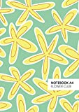 Flower Club - A4: (Green Edition) Fun notebook 192 lined pages (A4 / 8.27x11.69 inches / 21x29.7cm)