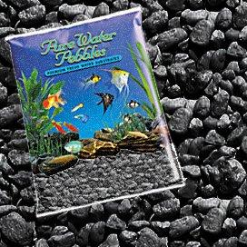 Pure Water Pebbles Nature's Ocean Aquarium Jet Zwart grind, 5 lb zak