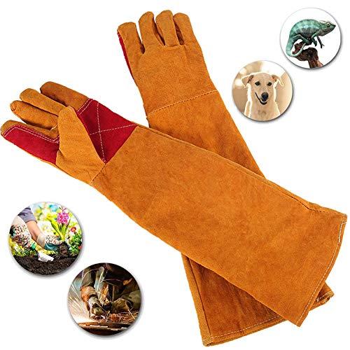 Behandeling van dieren Anti-bite handschoenen, 23,6 inch lange veiligheidshandschoenen voor lassen, Houtkachels Accessoires Handschoenen, Hittebestendige kachel Vuur- en barbecuehandschoenen