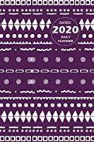 Pattern Lifestyle, Dated 2020 Daily Planner, 365 Days Blank Lined, Write-in Journal (Purple)