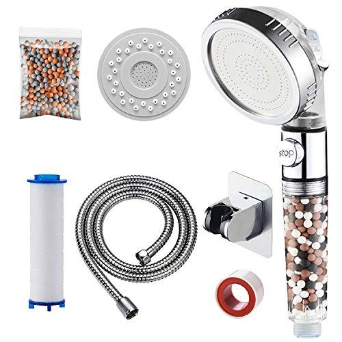 KAIYING Cabezal de ducha con filtro de 3 modos, filtro de...