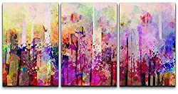 aa654073695 Modern Abstract Art Prints Abstract Colorful Splash Artwork – Modern Home  Decor Stretched and Framed Ready to Hang – 16″x24″x3 Panels