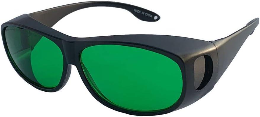 Eye los vidrios protectores 620-660nm de longitud onda, protección UV, rojo claro dispositivo semiconductor, puntero láser,compatible miope Gafas para la Protección los ojos belleza y cosmetología