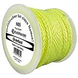 Overlen 4016590005819 Cuerda para pavimento de polipropileno N 85, 3,0 mm, 50 m, amarillo fluorescente